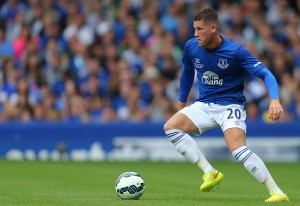 LIVERPOOL, ENGLAND - AUGUST 03: Ross Barkley of Everton during the Pre-Season Friendly between Everton and Porto at Goodison Park on August 3, 2014 in Liverpool, England. (Photo by Dave Thompson/Getty Images)