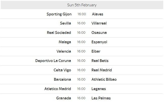 La Liga Fixtures 21